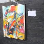 En forårsdag i Rebild -  Præmie: smukt maleri udlovet som præmie i en konkurrence ved Roldhøj