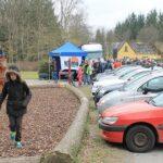Glade børn på legepladsen ved åbningen af Klimaugerne 2015