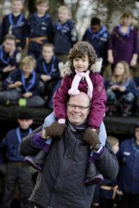Henning, Emma og Terndrup Spejderne - Foto: Martin Dam Kristensen