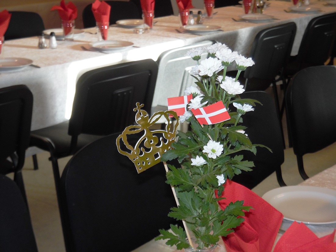 Royal bordpynt i Terndrup Medborgerhus
