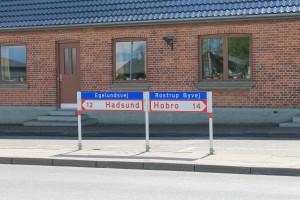Rostrup ligger midt mellem Hadsund og Hobro