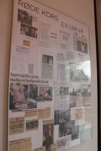 Et glimt af butikkens historie i vindfanget ind til butikken