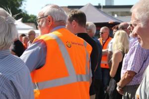 Mange repræsentanter fra Suldrup Senior Service, som har bidraget stærkt til renoveringen, var synlige og talstærke ved indvielsen