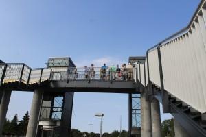 Bridgewalking i Skørping gav ikke samme adrenalinkick som bridgewalking på Lillebæltsbroen. Alligevel tog mange imod tilbuddet om denne helt unikke attraktion, hvor naturvejleder Søren Risborg fortalte om natur og kultur.