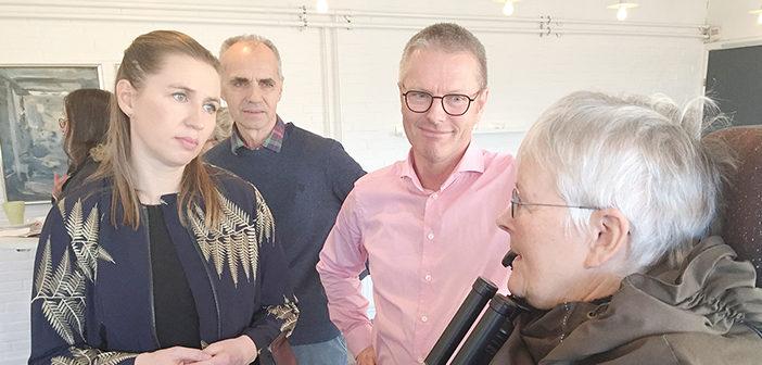 Mette Frederiksen på besøg i Støvring