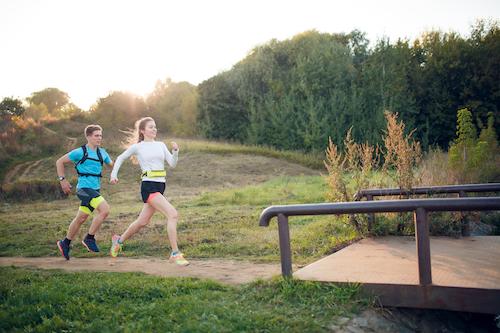 mandlig og kvindelig løber
