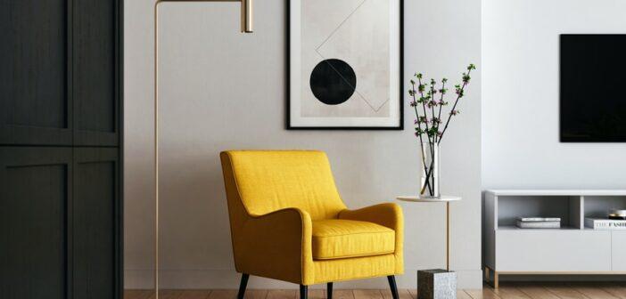 indretning af stuen i hjemmet